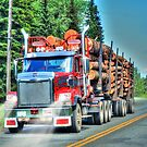British Columbia Logging Truck, Canada by Skye Ryan-Evans