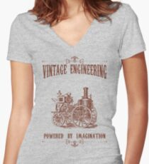 Vintage Engineering Women's Fitted V-Neck T-Shirt