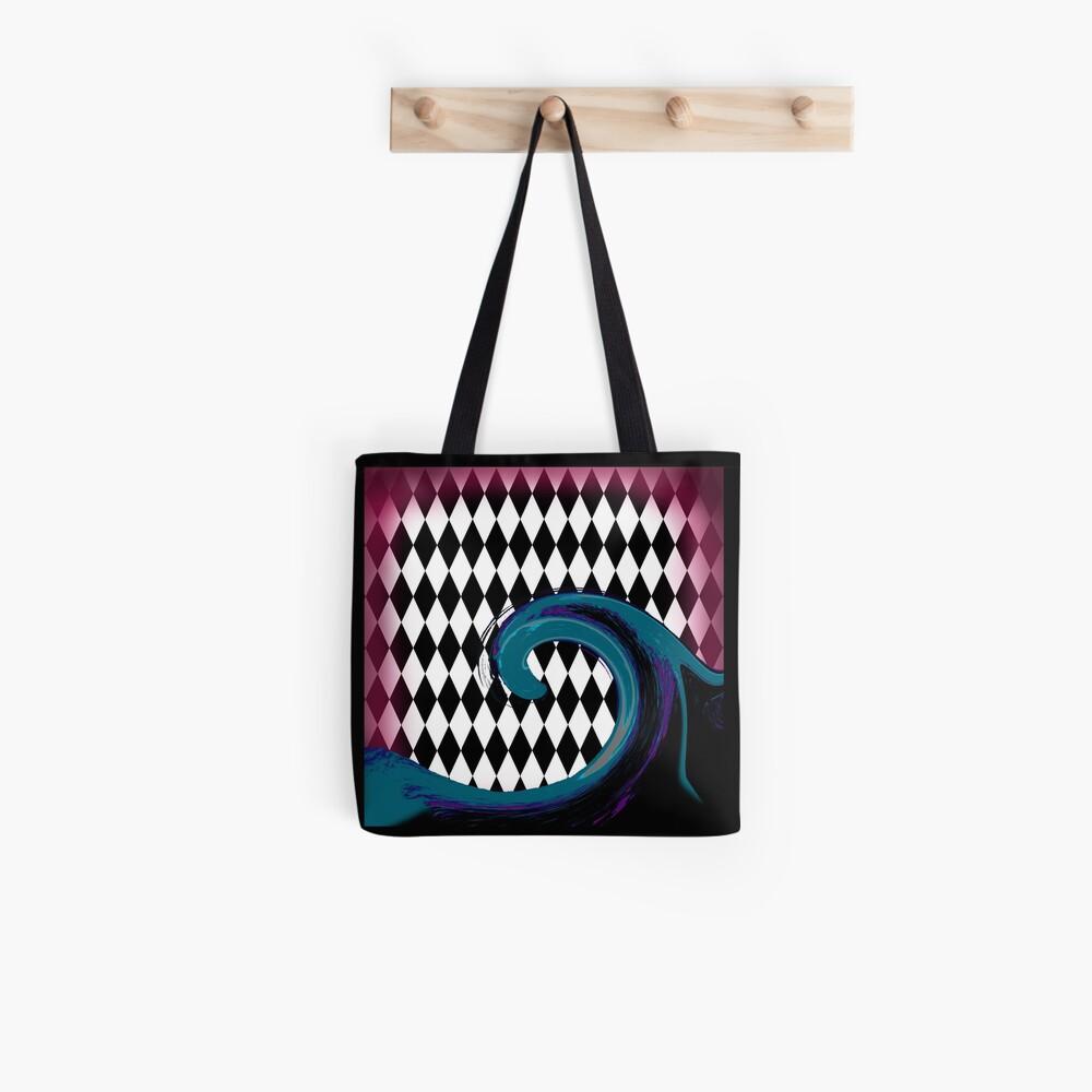 Blue and Purple Wave on Diamonds Tote Bag