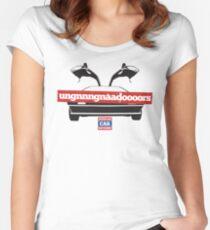 DeLorean Doors Ugnnnngnadaoooors Women's Fitted Scoop T-Shirt