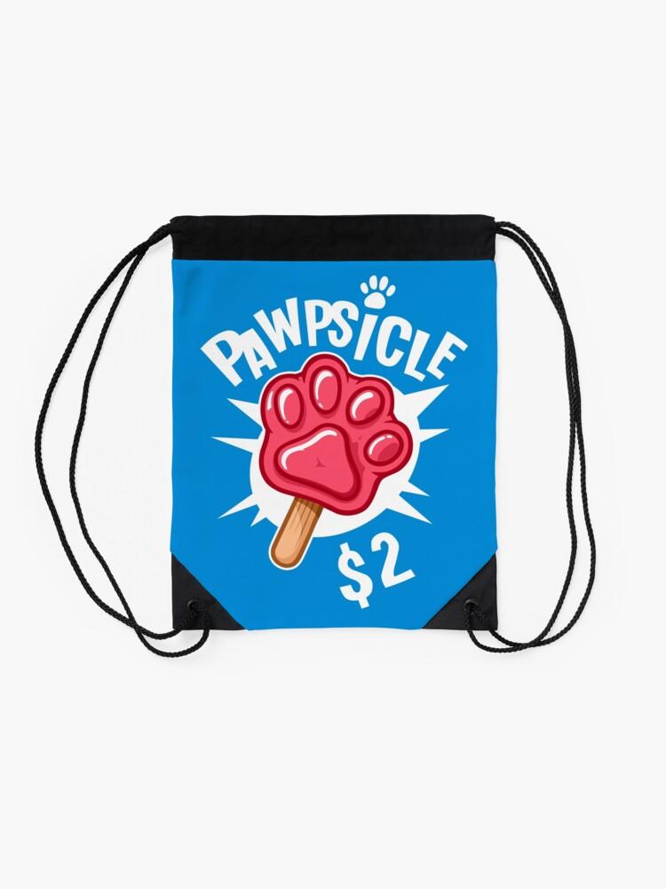 Alternate view of Pawpsicle $2 Drawstring Bag