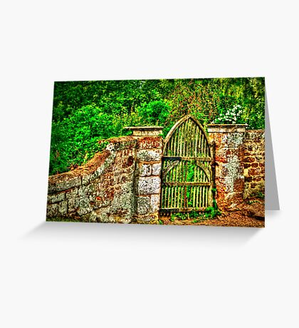 The Old Garden Gate (HDR) Greeting Card