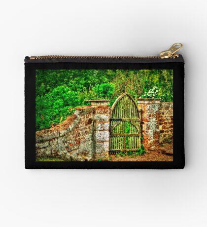 The Old Garden Gate (HDR) Zipper Pouch