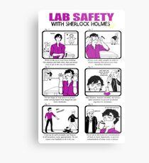Lienzo metálico Seguridad en el laboratorio con Sherlock Holmes