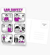 Lab Safety with Sherlock Holmes  Postkarten