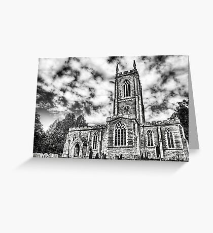Orlingbury church (black and white) Greeting Card