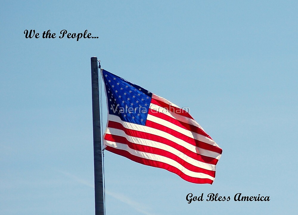 American flag, We the People by Valeria Lee