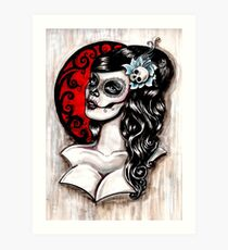 Day of the dead pinup tattoo Art Print