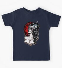 Day of the dead pinup tattoo Kids Clothes