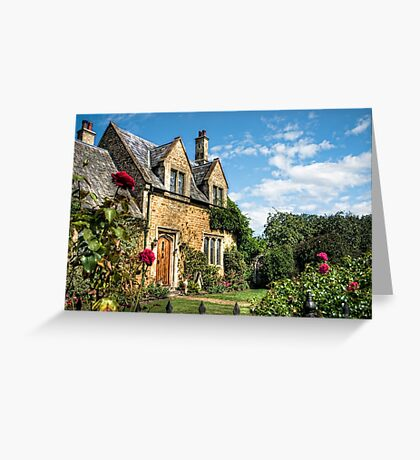 Country Cottage HDR art Greeting Card