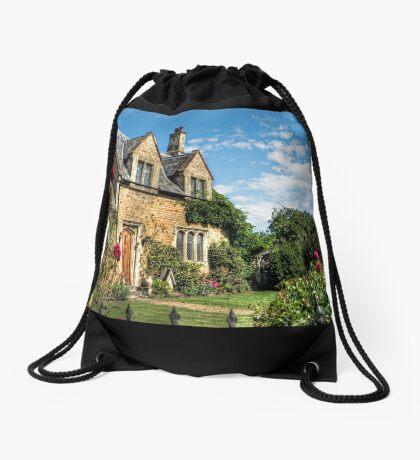 Country Cottage HDR art Drawstring Bag