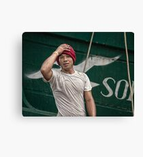 Angel in Red Cap Canvas Print