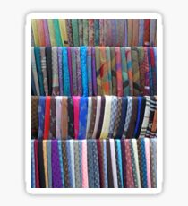 Rows Stripes of Hanging Colourful Pashmina Scarves  Sticker