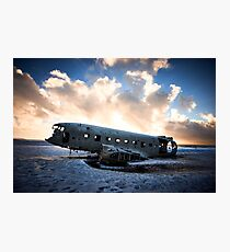 Plane wreck in Southern Iceland Photographic Print