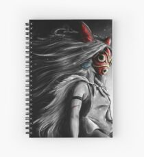 Mononoke Wolf Anime Tra Digital Painting Spiral Notebook