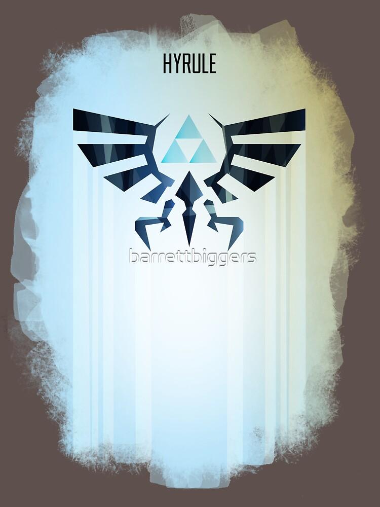Legend Of Zelda Hyrule Rising Minimal Vector Poster T-Shirt - The T