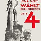Vote for Communist party (1928) German & Soviet Russia by Remo Kurka