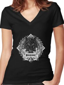 Pride of the Forest Wolf Mononoke Geek Line Artly Women's Fitted V-Neck T-Shirt