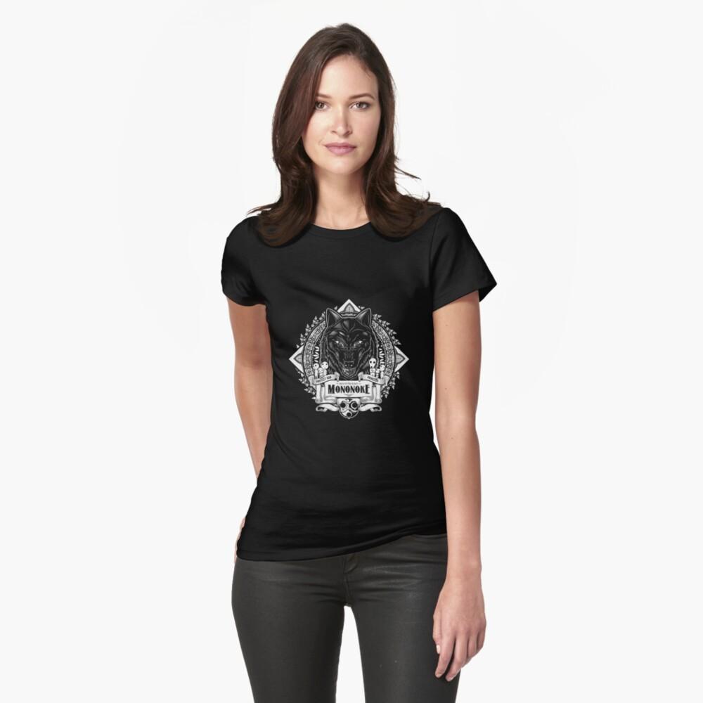 Orgullo del bosque Wolf Mononoke Geek Line Artly Camiseta entallada
