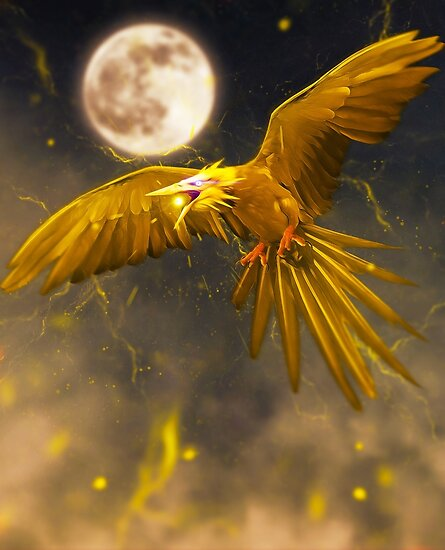 Quot Realistic Pokemon Zapdos Quot Poster By Addemdialart