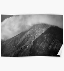 Clouds chasing over a mountain, Austria Poster