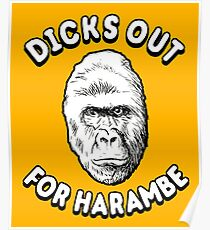 Dicks Out For Harambe T-Shirt Poster