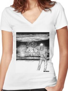 George Carlin Women's Fitted V-Neck T-Shirt