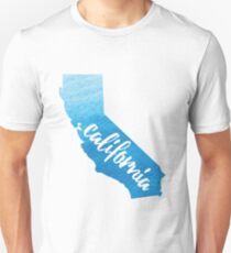 California - blue watercolor  T-Shirt