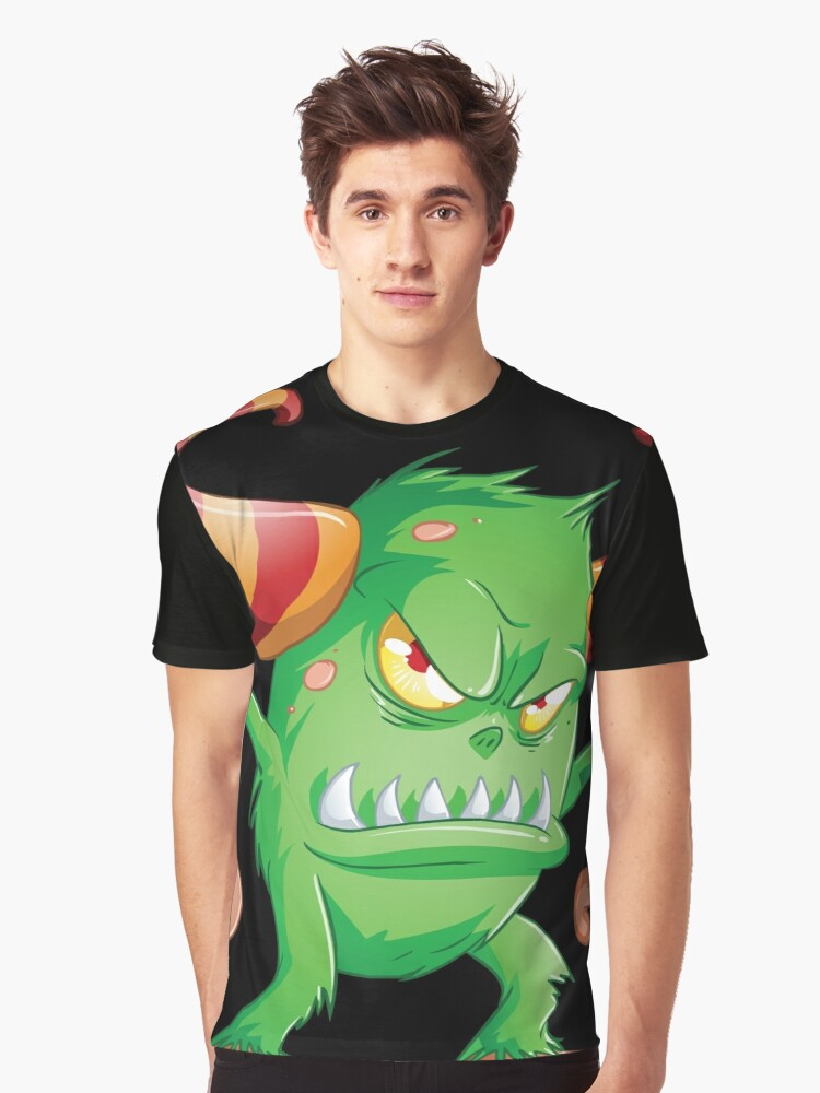 Halloween Monster 3 Graphic T-Shirt Front