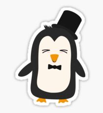 Penguin with suit   Sticker