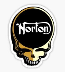 Norton Motorcycles Skull Sticker