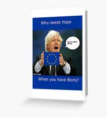 Boris Johnson, scared Brexit Greeting Card