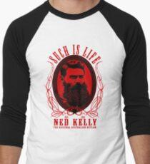 Ned Kelly - Original Outlaw Design in red Men's Baseball ¾ T-Shirt