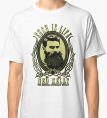 Ned Kelly - Original Outlaw Design in yellow Classic T-Shirt