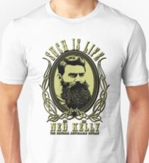 Ned Kelly - Original Outlaw Design in yellow Unisex T-Shirt