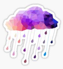 Regentropfen-Wolke Sticker