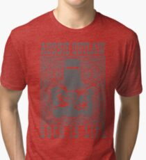Ned Kelly Aussie Outlaw in grey Tri-blend T-Shirt
