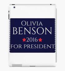 Olivia Benson For President  iPad Case/Skin