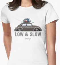 Beetle Low & Slow (brown) Women's Fitted T-Shirt