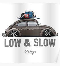 Beetle Low & Slow (brown) Poster