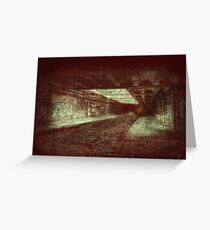 Hell Tunnel Greeting Card