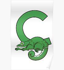 C is for Chameleon Poster