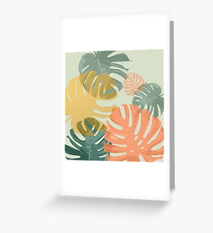 Monstera Pop Greeting Card