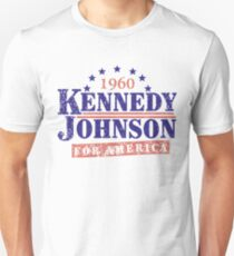 Vintage Kennedy Johnson 1960 Presidential Campaign T-Shirt