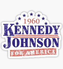 Vintage Kennedy Johnson 1960 Presidential Campaign Sticker