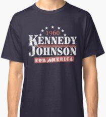 Vintage Kennedy Johnson 1960 Präsidentschaftskampagne Classic T-Shirt