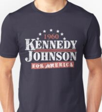 Vintage Kennedy Johnson 1960 Presidential Campaign Unisex T-Shirt
