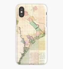 Vintage Map of South Carolina (1757) iPhone Case