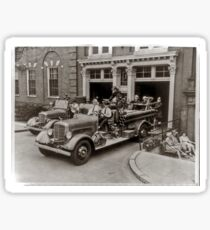 Early 20th Century Fire Engines Sticker
