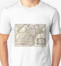 Discovering The Eastern United States Map (1759) T-Shirt